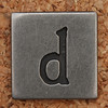 Pewter Lowercase Letter d