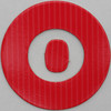 coloured card disc letter o