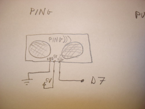 Arduino Theremin Ping schematic
