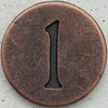 Copper Lowercase Letter l