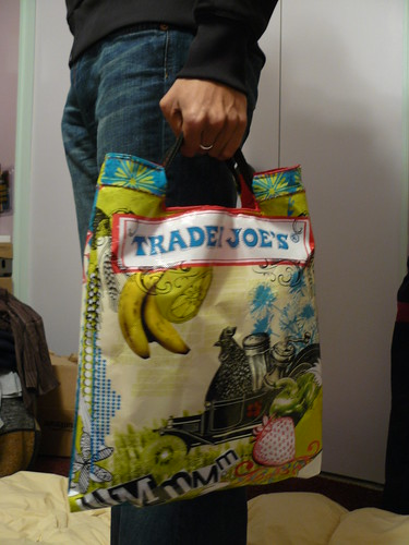 How To Make A Book Cover With A Trader Joe S Bag : Trader joe s book tote mudmuffins and woogiemonsters