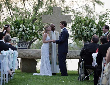 Jenna Bush Wedding Altar
