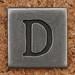 Pewter Uppercase Letter D