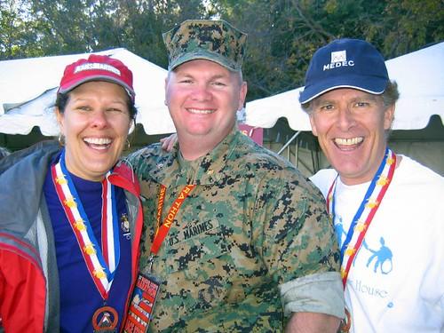 Bev Moir, Major Dan O'Connor, & me