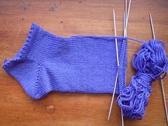 cobalt blue sock WIP