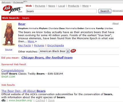 Bears on ask.com