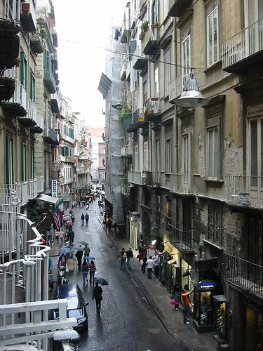 View of Naples Street from hotel
