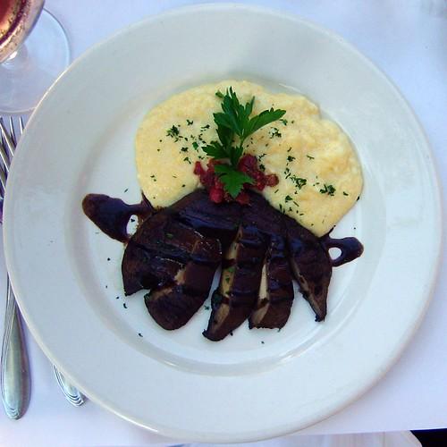 portobello and polenta