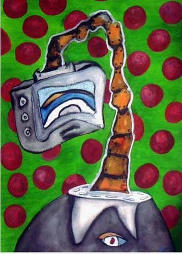 El Hombre Cabeza de Tele cubista