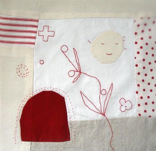 redwork quilt block