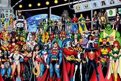superheroes crowd