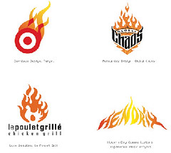 logos parecidos fuego