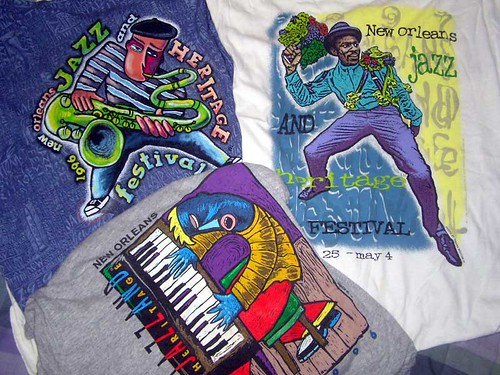 T-shirts from 1996 New Orleans Jazz & Heritage Festival