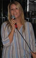 Kristine singing