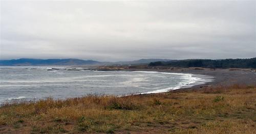The beach in Cleone, CA