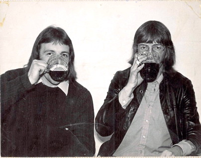 jr and jm drinking in the SU c 1972