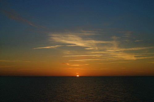 A sunset over the Baltic sea