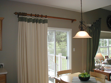 Door Curtains Than Meets The Eye. Kitchen Sliding Glass Doors Do