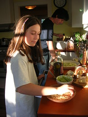 Camille in the kitchen