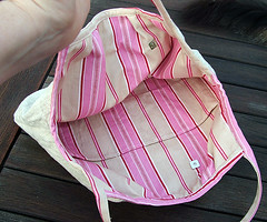 woolen bag interior
