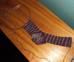 circular sock progress