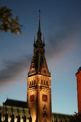Hamburg: Rathausturm