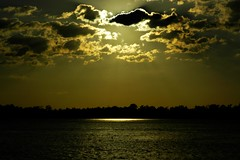 Sun on the Mississippi River