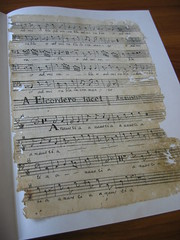 Cleaned sheet of music