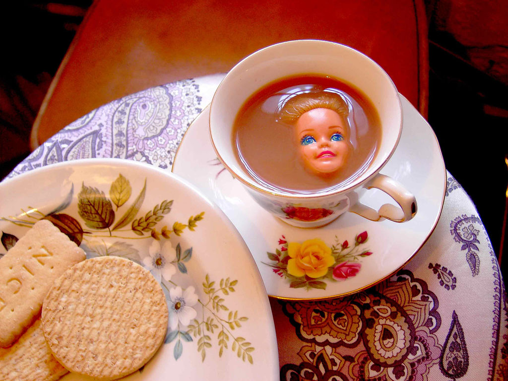 barbie in a teacup