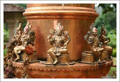 Ashta Lakshmis around the Dwajasthamba at Shree Balaji Temple at Goa