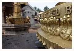 Carvings around the base of the Deepasthamba at Mahalasa Narayani Temple at Goa