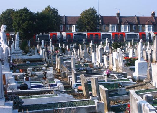 Tube and St Patrick's Roman Catholic Cemetery