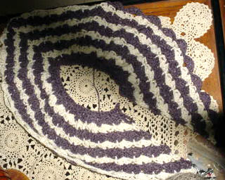 Crocheted Shawl from Alpaca/Angora/Merino