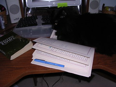 Ares helping with my book diary