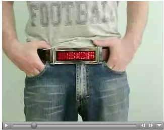 Scrolling Belt Buckle - screen capture