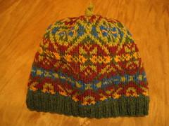 First fair isle hat