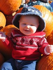 Leda in the pumpkin patch