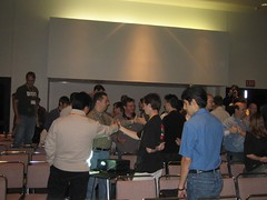 Thumb wrestling at Alternate Reality Gaming Session ACG 2005