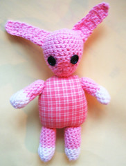 Crocheted baby rabbit