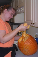 Me with the pumpkin guts