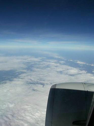 往Beijing國際民航機上