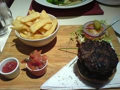 1/2 lb burger at Tonic, Edinburgh