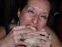 Jess eats burrito