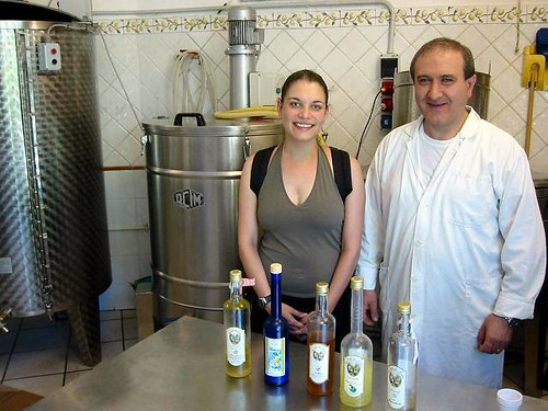 in limoncello factory, amalfi