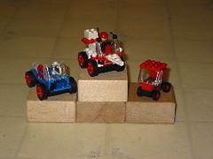3 lego cars