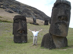 Jonathan and some Moai