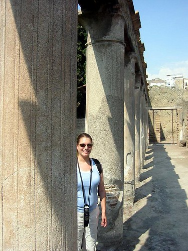 me amongst the columns at herculaneum