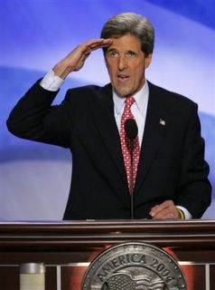 Kerry Saluting