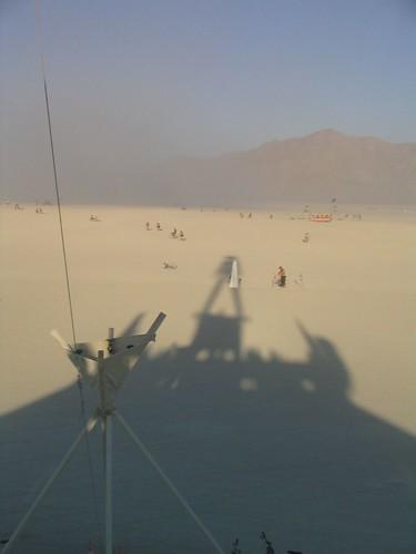 The Man's Shadow at Burning Man 2005