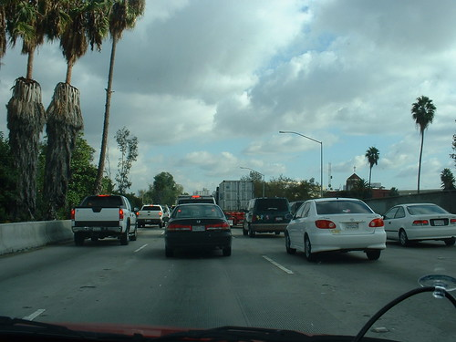 light Los Angeles traffic